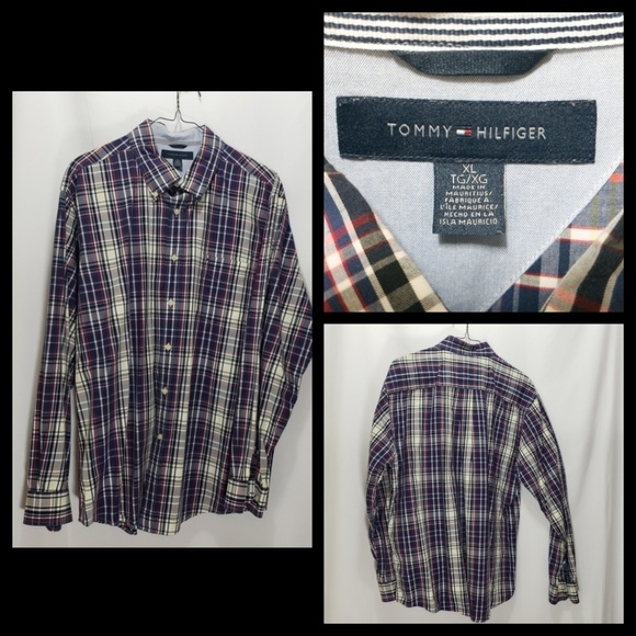 Tommy Hilfiger Other - Tommy Hilfiger Size XL Plaid Button Down